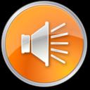volume,normal,orange icon