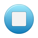 blue, stop, button icon