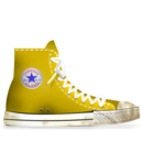 converse,yellow,dirty icon