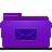 Folder, Mails, Violet icon