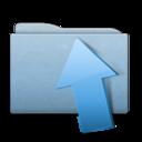 Folder Blue Upload icon