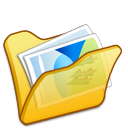 folder yellow mypictures icon