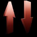 transfert,rouge icon