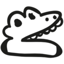 Crocodile head hand drawn toy icon