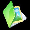 Folder, Green, Picture icon