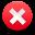 Delete, Exit, Failure, Stop, Warning icon