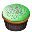 green,cupcake icon