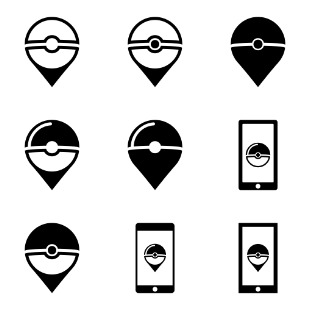 Pokemon go addict icon sets preview