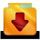 Downloads, Orange icon