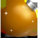 golden, christmas, ball icon