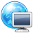 browser, computer, world, earth icon