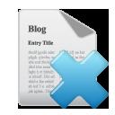 blog, remove, delete, del icon