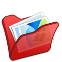 red, folder, mypictures icon