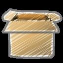 scribble box open icon