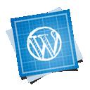 social, wordpress, blueprint icon