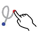 shape, right, loop, gestureworks, stroke icon