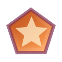 Actions draw polygon star icon