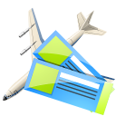 air, ticket icon