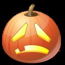 jack o lantern, pumpkin, halloween, sad icon