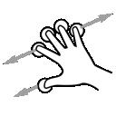 finger, drag, five, gestureworks icon