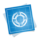 social, blueprint, help icon