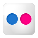 social flickr box icon