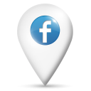 location, map, facebook icon