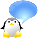 xchat, talk, chat, comment, speak, penguin, tux icon