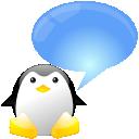 xchat, talk, chat, comment, speak, penguin, tux icon