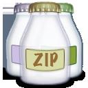 fyle, zip, type icon