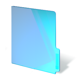 closed, folder, blue icon
