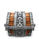 iron, solid, chest icon