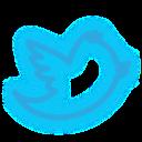 set, twitter, media, neon, social icon