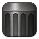 trash, empty, blank, recycle bin icon