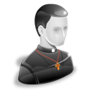 man, creed, monk, belief, user, christian, priest icon
