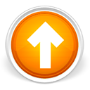 upload, up, arrow, increase, orange, rise, ascend, ascending icon