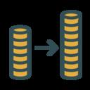 Coin increase icon