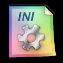 document, paper, file, ini icon