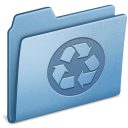recycling, blue icon