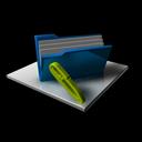 write, folder, full, writing, edit icon