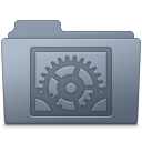 System Preferences Folder Graphite icon