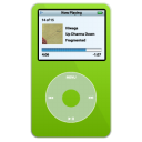 video, ipod, green icon
