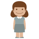 girl, person, avatar, female, kid, grey, child icon