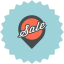 ecommerce, pin, pointer, location, advertising, map pointer, sale icon