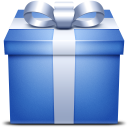 blue, gift, giftbox, box, present icon