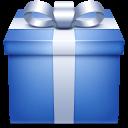 blue, gift, giftbox, box, present icon