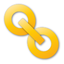 yellow, hyperlink icon