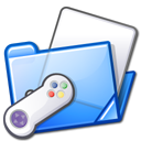 gaming, games, blue, folder, game, controller icon