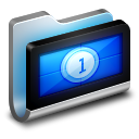 Movies Metal Folder icon