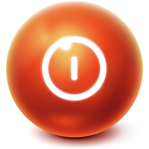 turn off, power off, shut down, bright, ball, shutdown icon